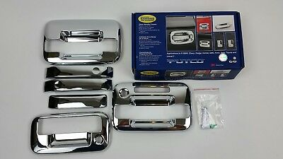 Center Section Only Putco Chrome Door Handle Covers for Ford F150 4DR 401018