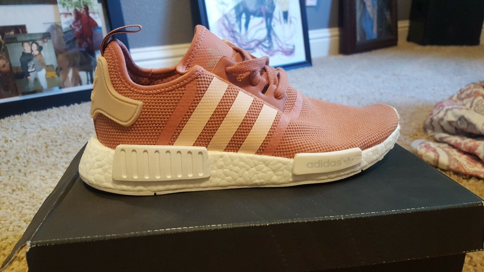 Adidas NMD R1 Runner W Nomad Women's WMNS  Size 9.5 Peach Pink Salmon