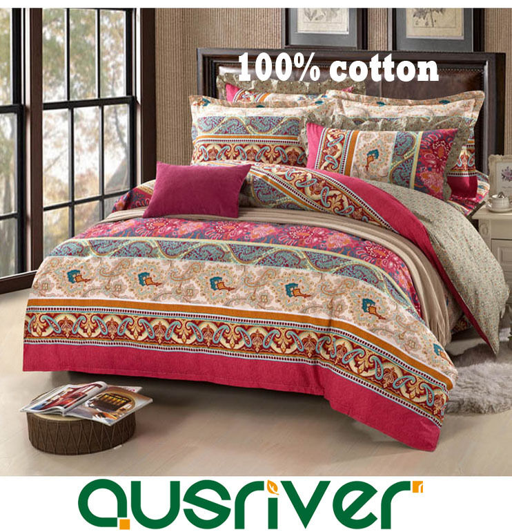 New Bed Quilt Duvet Doona Cover Set Bed Skirt Fitted Sheet 100%Cotton Florence