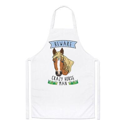 Affidabile Beware Cuoio Man Chef Grembiule - Divertente Pony