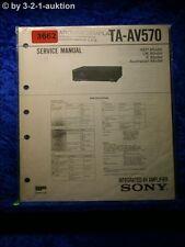 Sony Service Manual TA AV570 Amplifier (#3662)