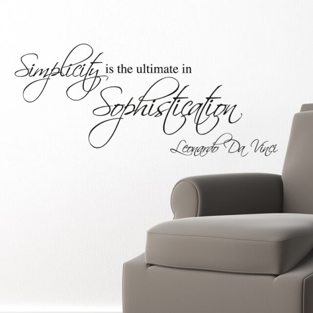 SIMPLICITY.. WALL STICKER ART DECALS QUOTES GRAPHICS