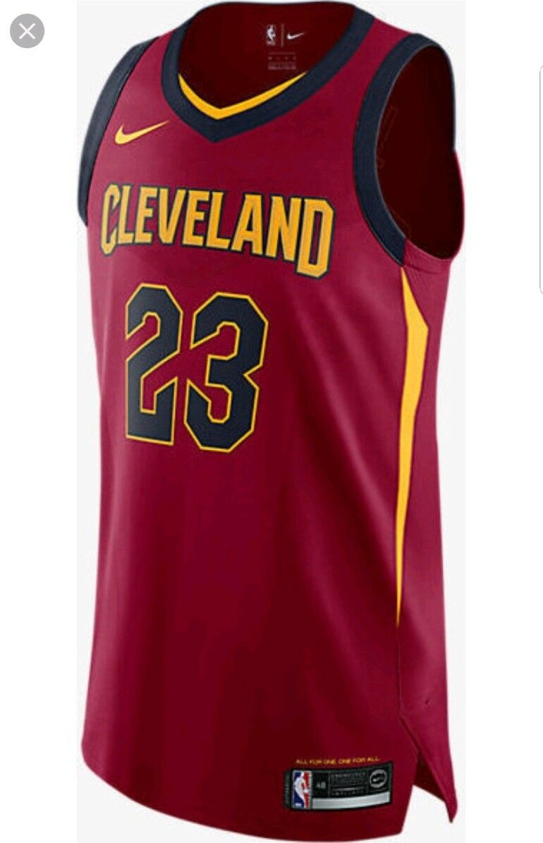 release date c5c62 46b39 Nike Lebron James Cleveland Cavaliers Icon Edition Authentic Jersey Size 52  XL