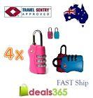 4 X 3 Digit TSA approved Combination Locks Travel Luggage Padlock Suitcase