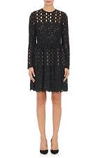 Lanvin NWT $4,140 Black Cotton & Silk Lace Black Evening Cocktail Dress SZ 38