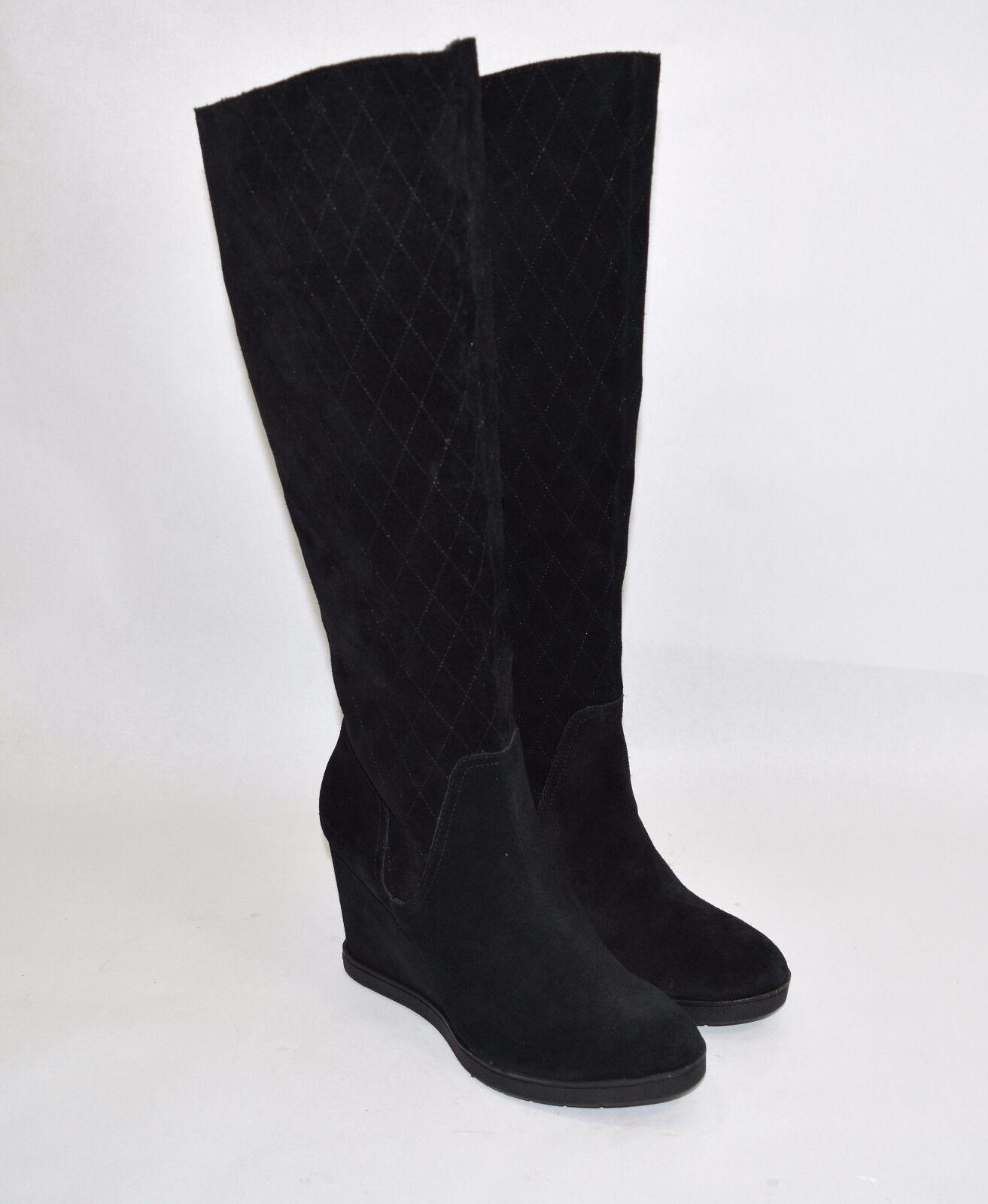 negozio di sconto New  Donald J Pliner 'Cadi' 'Cadi' 'Cadi' Quilted-Suede Knee avvio Wedge nero Dimensione 9.5M  nuovo di marca