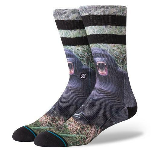 Stance SOCKS calze da uomo NUOVO Gorilla nera nuova con etichetta