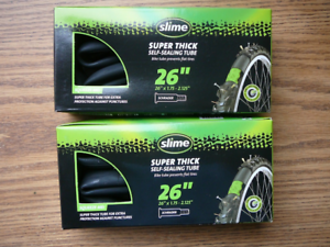 Thorn Slime Tubes 26x1.75 1.8 1.9 2.0 2.125 (QTY 2) Bike Tube Schrader