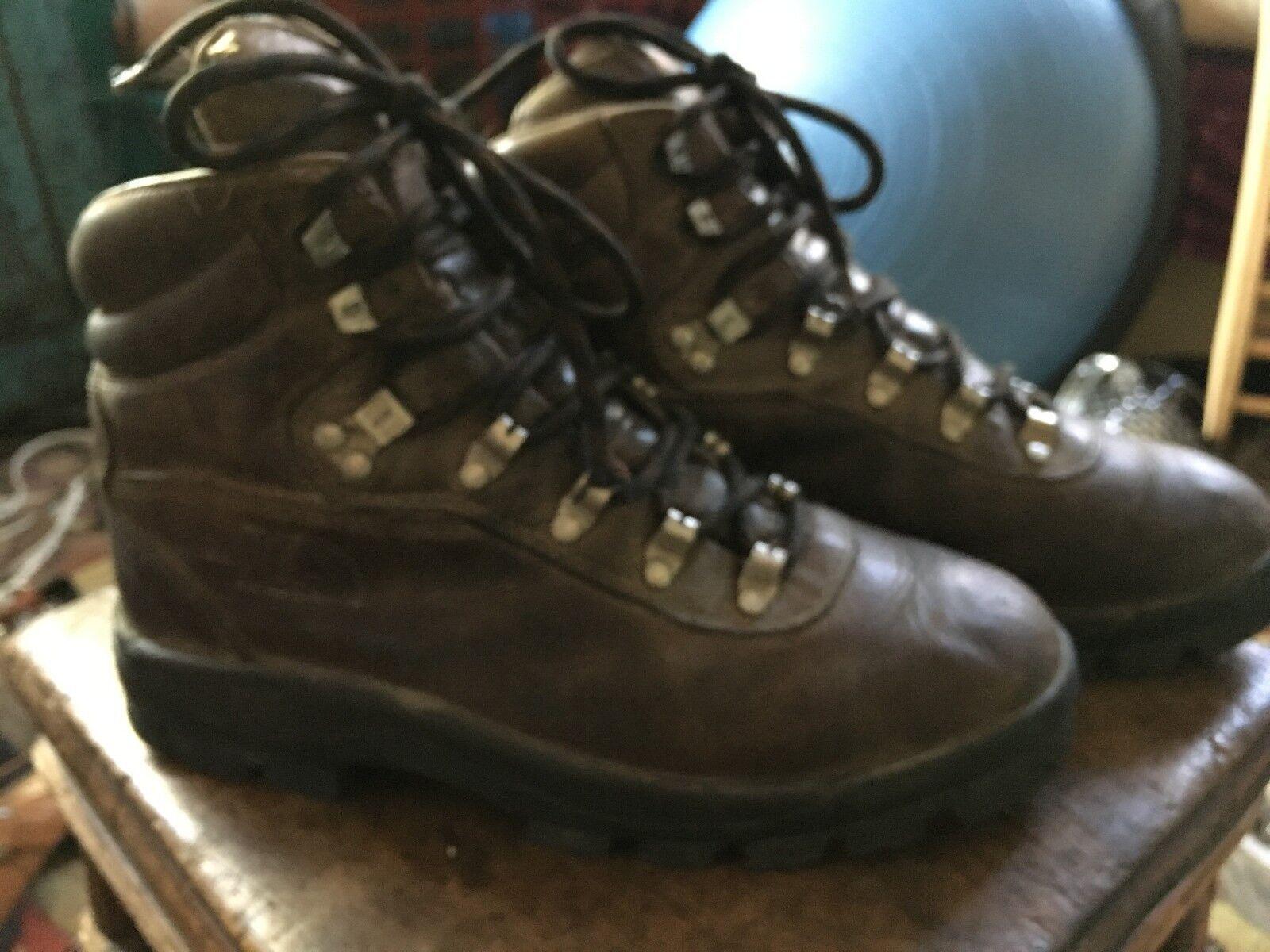Parete nord Uomo x2 stivali di pelle marrone sentiero trekking robuste sz 7,5 scarpe robuste trekking di 40,5 ba6a0e