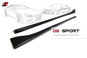 Carbon Fiber 3D Style Side Skirts 2PCS fits for BMW F06 M Sport & M6 Grand Coupe