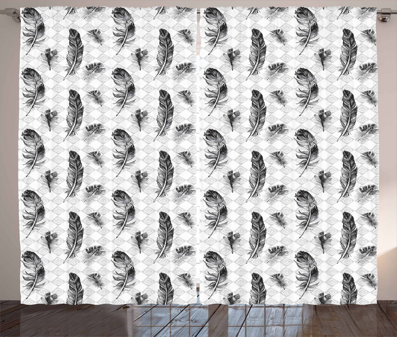 Arabesque Feather Curtains 2 2 2 Panel Set Decoration 5 Größes Window Drapes f5f8a7