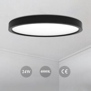 Led Deckenleuchte Ultraslim Deckenlampe 24w Lampe Fur Wohnzimmer Kuche Flur De Ebay
