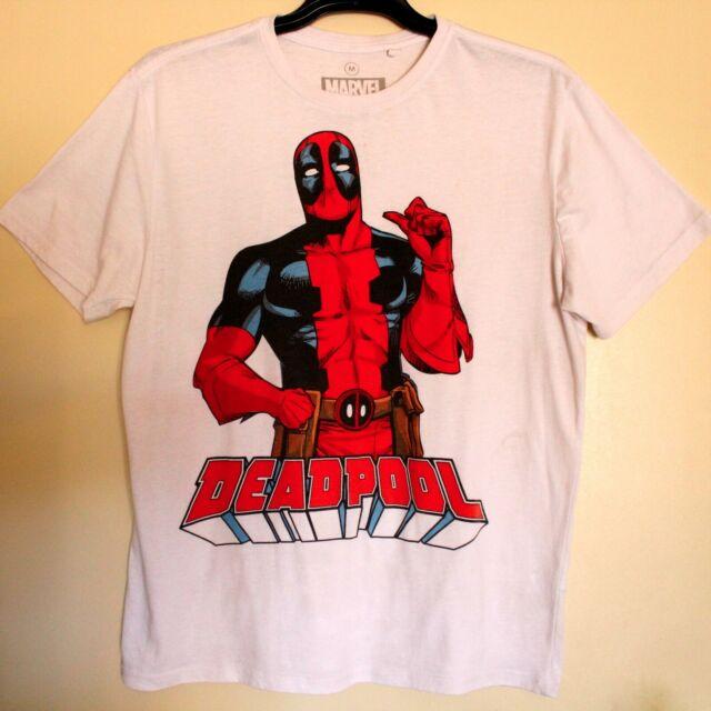 Deadpool Marvel T Shirt White Size M