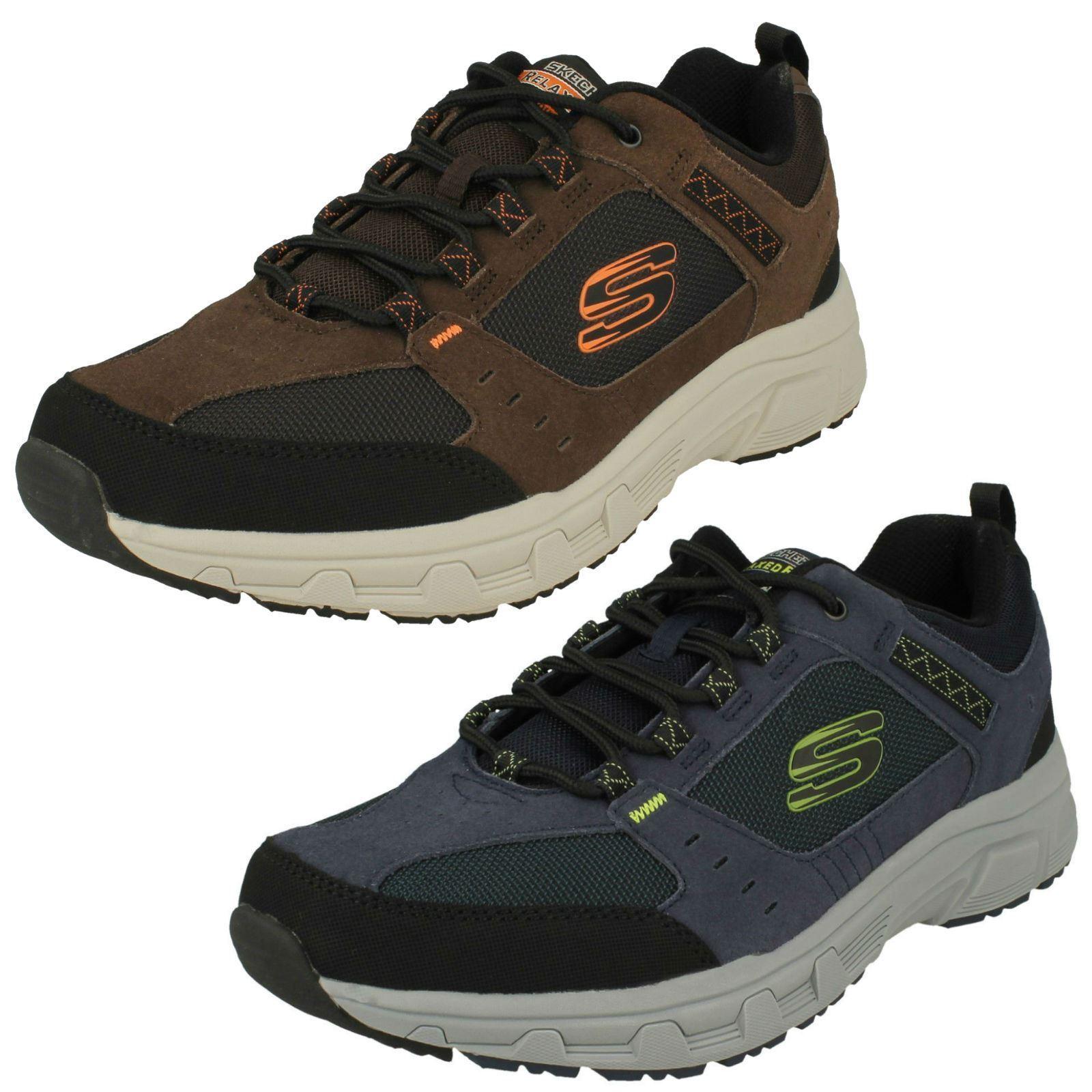 Hombre Skechers Exterior Roble Cañón 51893 Zapatillas con Cordones
