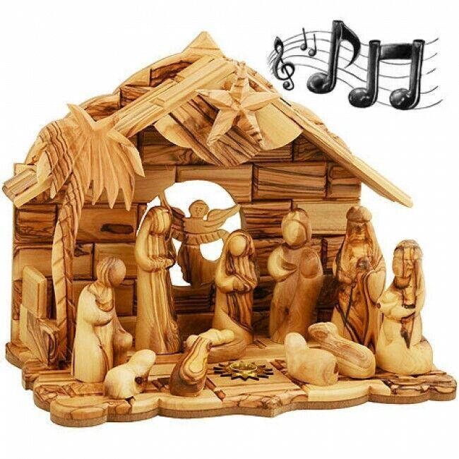 Faceless Olive Wood Nativity Set