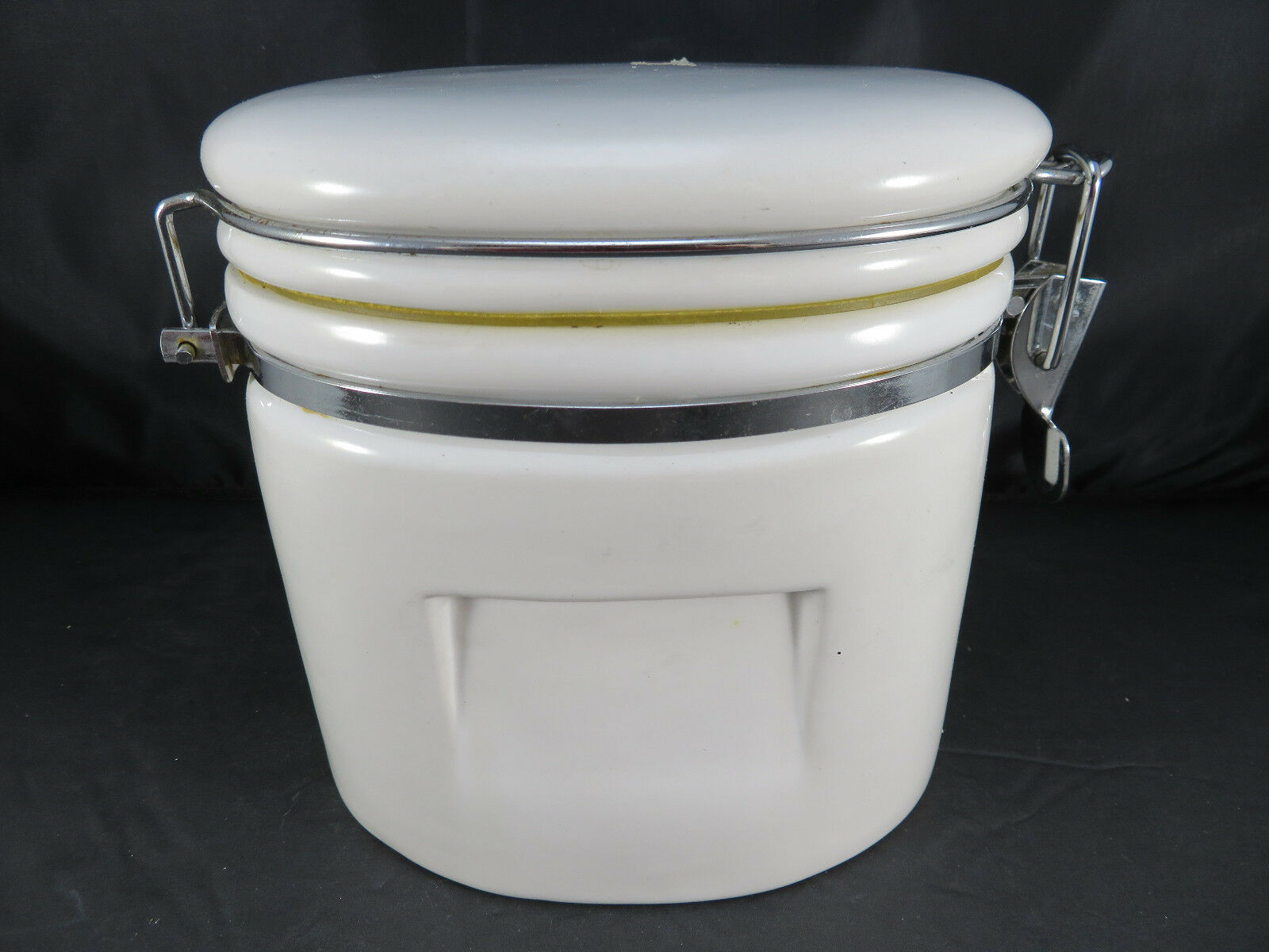 Vintage Coffeehouse White Ceramic Canister COFFEE 6  high
