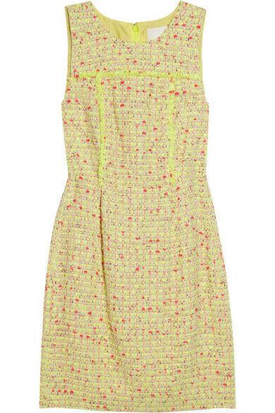 NEW J CREW Gelb NEON  TWEED  DRESS Größe 8