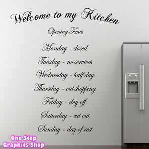 Wonderful Image Is Loading WELCOME TO MY KITCHEN WALL ART QUOTE STICKER