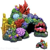 Exotic Colorful Coral Reef Garden With Algae Fish Tank Aquarium Ornament