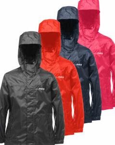 Regatta Kids Boys Girls Lightweight Packaway Waterproof Jacket Rain Coat RRP £25