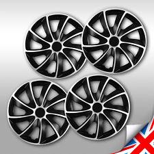 17 HUB CAPS 15 Inch Wheel Trims HQ ABS Plastic Universal Push-In Set of 4 BLUE