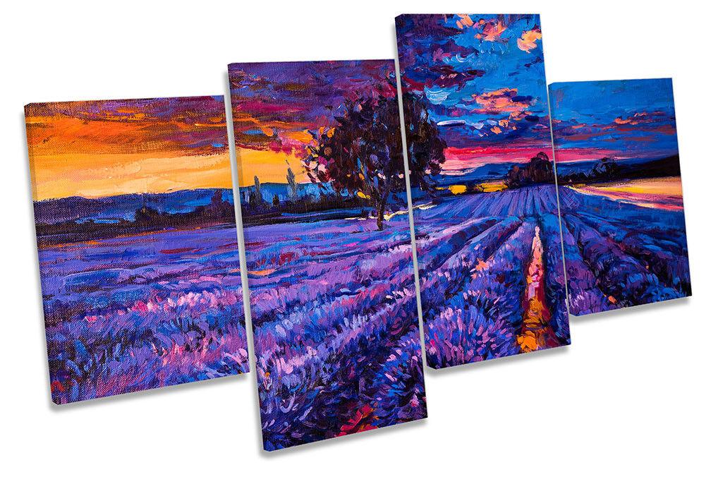 lila Lavender Landscape MULTI CANVAS Wand KunstWORK Drucken Kunst
