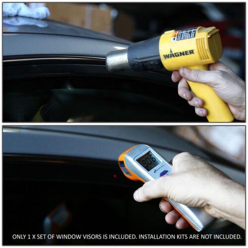FOR 12-16 VERSA SEDAN 4D SMOKE TINT WINDOW VISOR SHADE//VENT WIND//RAIN DEFLECTOR