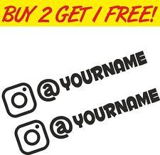 2 x Instagram Username Graphic Vinyl Decal Sticker EURO JDB DUB VW Funny