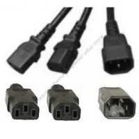 4ft Power Y Cable/cord/wire2devices/pc/printer/computer Splitter$shdi{c142c13