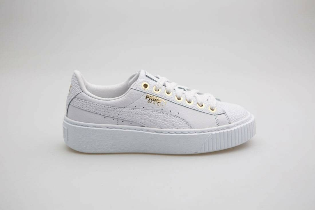 .99 Pearlized Puma Women Basket Platform Pearlized .99 white 364233-01 deb867