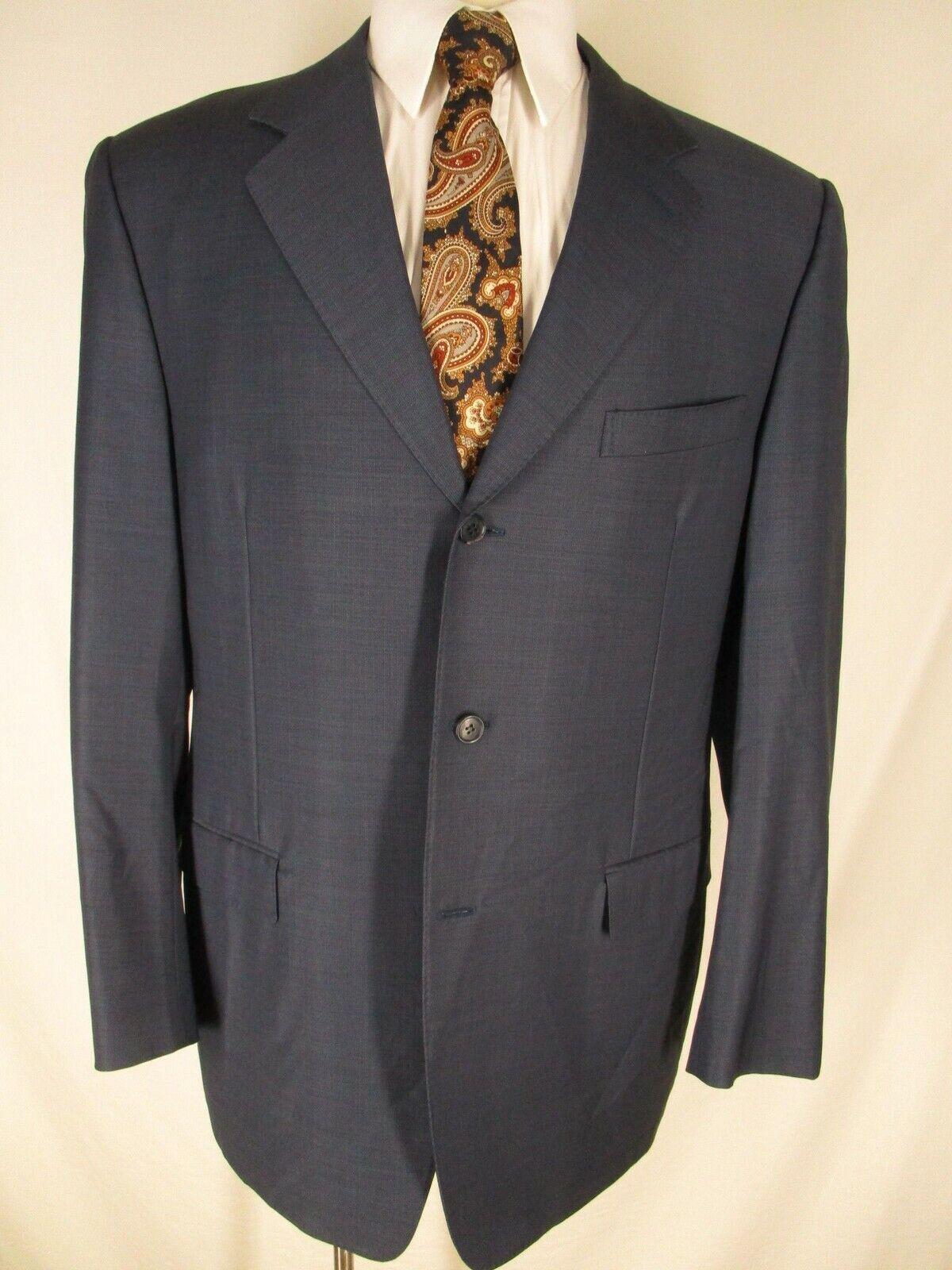 Canali Mens bluee 3 Btn Sport Coat 44L  Made