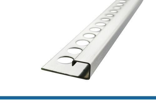 250cm//15mm Edelstahl gebürstet Fliesenschiene Quadratprofil