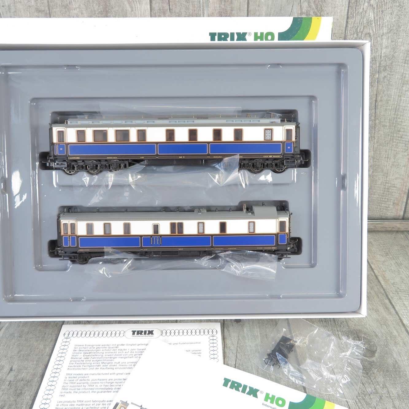 TRIX 21241 - H0 - 2 tlg. Set - Kaiser Wilhelm II Hofzug - mit Licht OVP  L25664