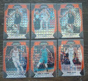 Lot-6-2017-18-Panini-Mosaic-Prizm-Basketball-Orange-Refractor-RC-Hart-Monk