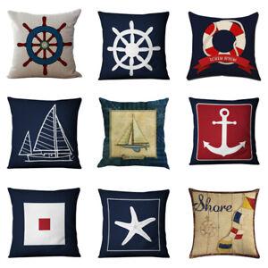 Copricuscino-blu-Marinaio-Ancoraggio-Nautico-Marina-Americana-Stile-Federa