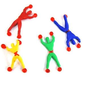 1-10x Novità appiccicoso Wall Climber UOMINI, Party Bag-Vari colori-UK FORNITORE  </span>