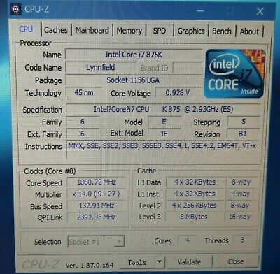 Intel Core i7-875K Desktop CPU BV80605001905AM LGA1156 Unlocked