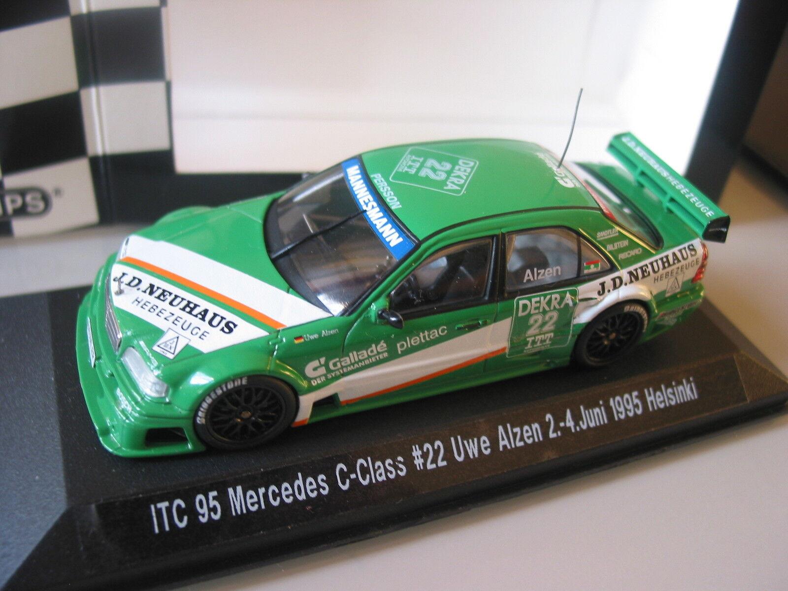 Mercedes - ALZEN - ITC  1995  HELSINKI - 1 43 VERY Rare Minichamps NLA