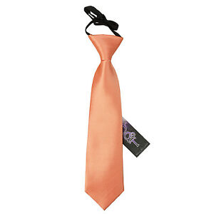DQT-Satin-Plain-Solid-Coral-Kids-Elasticated-Pre-Tied-Page-Boys-Tie