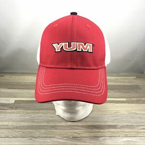 85edf0e7 Details about Yum Baits Trucker Cap Hat, Adjustable, Red and White
