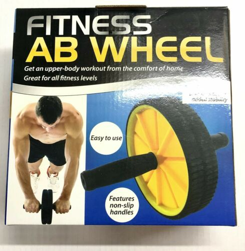 Fitness AB WHEEL Training Tone Non-slip Handles Workout Mat Exercise Tool Home
