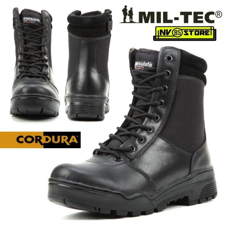 Stivali Anfibi Militari Boots MILTEC Leather Thinsulate 3M Cordura Pelle Leather MILTEC con ZIP a2ceab