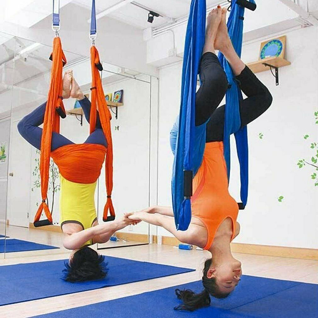 Fitness Aerial Yoga Swing Set Sling Hammock Trapeze Adjustable Straps
