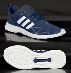 Details about Adidas ZX Flux ADV Smooth Womens Sneakers Running Shoes Sports Halls Shoes Blue Navy show original title