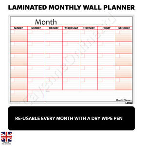 Reusable-Laminated-Monthly-Wall-Plan-Poster-Planner-FREE-2019-Calendar-Chart
