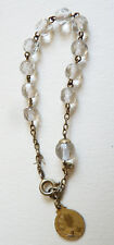 Bracelet dizainier en vermeil et perles de cristal argent massif chapelet silver