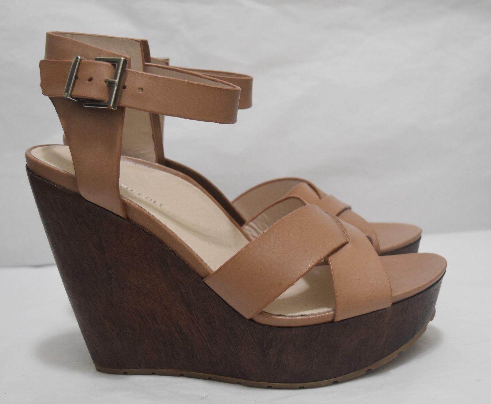 Kenneth Cole Cole Cole Mujer Zapatos Clavo de Olor Cuero Cuña, Talla 10 y 11, medio Tortora,  140  Mejor precio