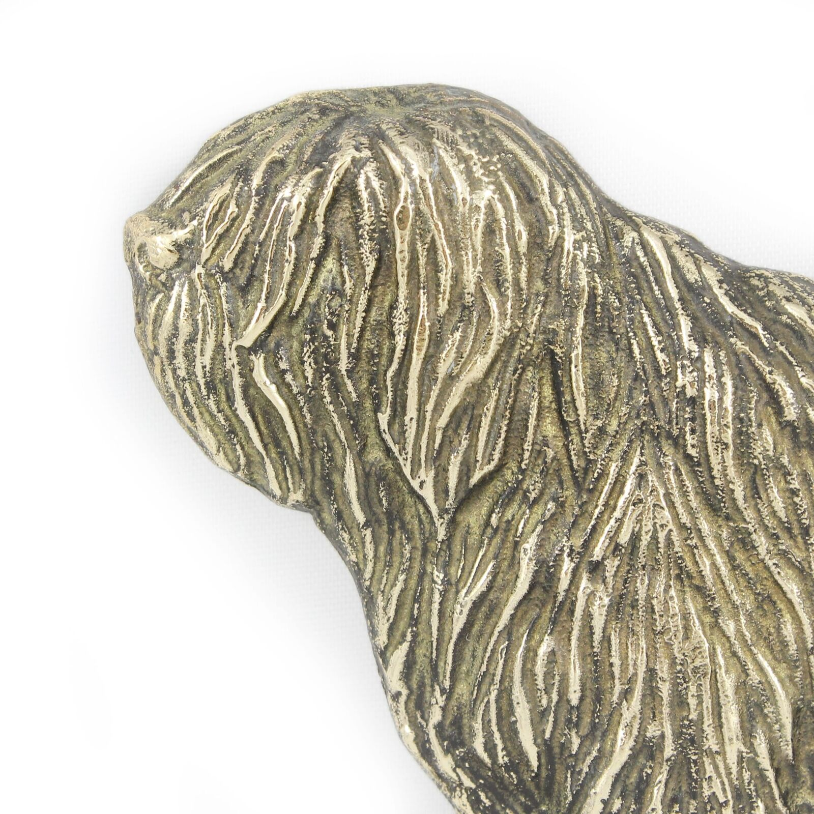 Polish Lowland Sheepdog - brass tablet with image of a a a dog Art Dog f54992