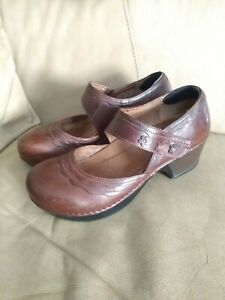 DANSKO-Womens-sz-40-9-5-10-Closed-Toe-Mary-Jane-Pumps-single-adjustable-strap