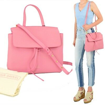 New Mansur Gavriel Mini Lady Bag Peony Pink Satchel Drawstring Designer  Purse e7bcb81f0c358
